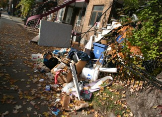 Amoncellement de déchets