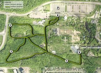 Parc des Moulins: 2,3 km de nouveaux sentiers