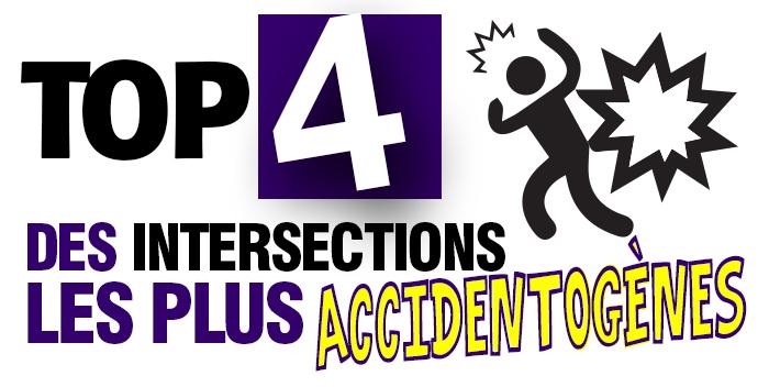 Top 4 des endroits les plus accidentogènes