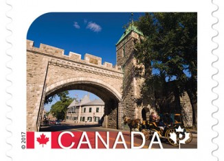 Le Vieux-Québec sur un timbre