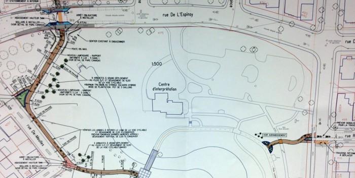 Piste cyclable parc Cartier-Brébeuf :Un lien nord-sud fort