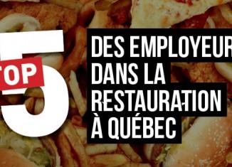 Top 5 des plus grands employeurs de la restauration à Québec