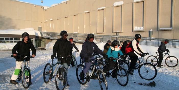 Challenge polaire:15 immigrants en vélo pour promouvoir l'inclusion