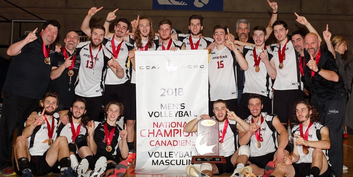 Volleyball: Les Titans, champions canadiens