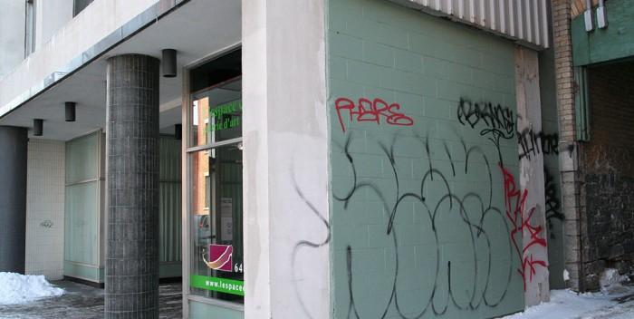 Graffitis dans La Cité-Limoilou:Peu de signalement