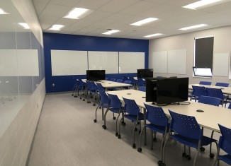 Une classe d'apprentissage actif au Cégep Garneau