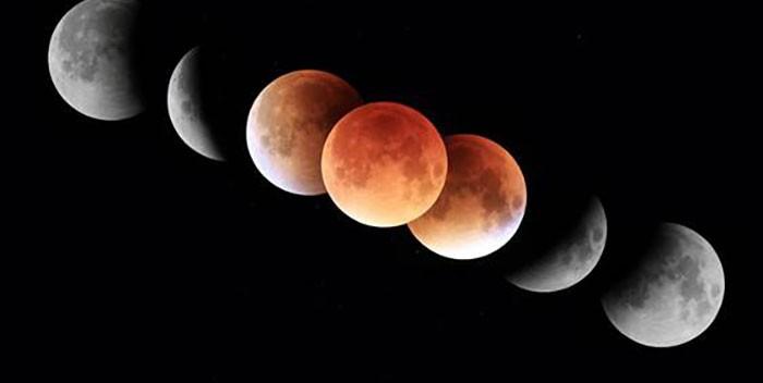 Éclipse total lunaire dans la nuit du 20 janvier